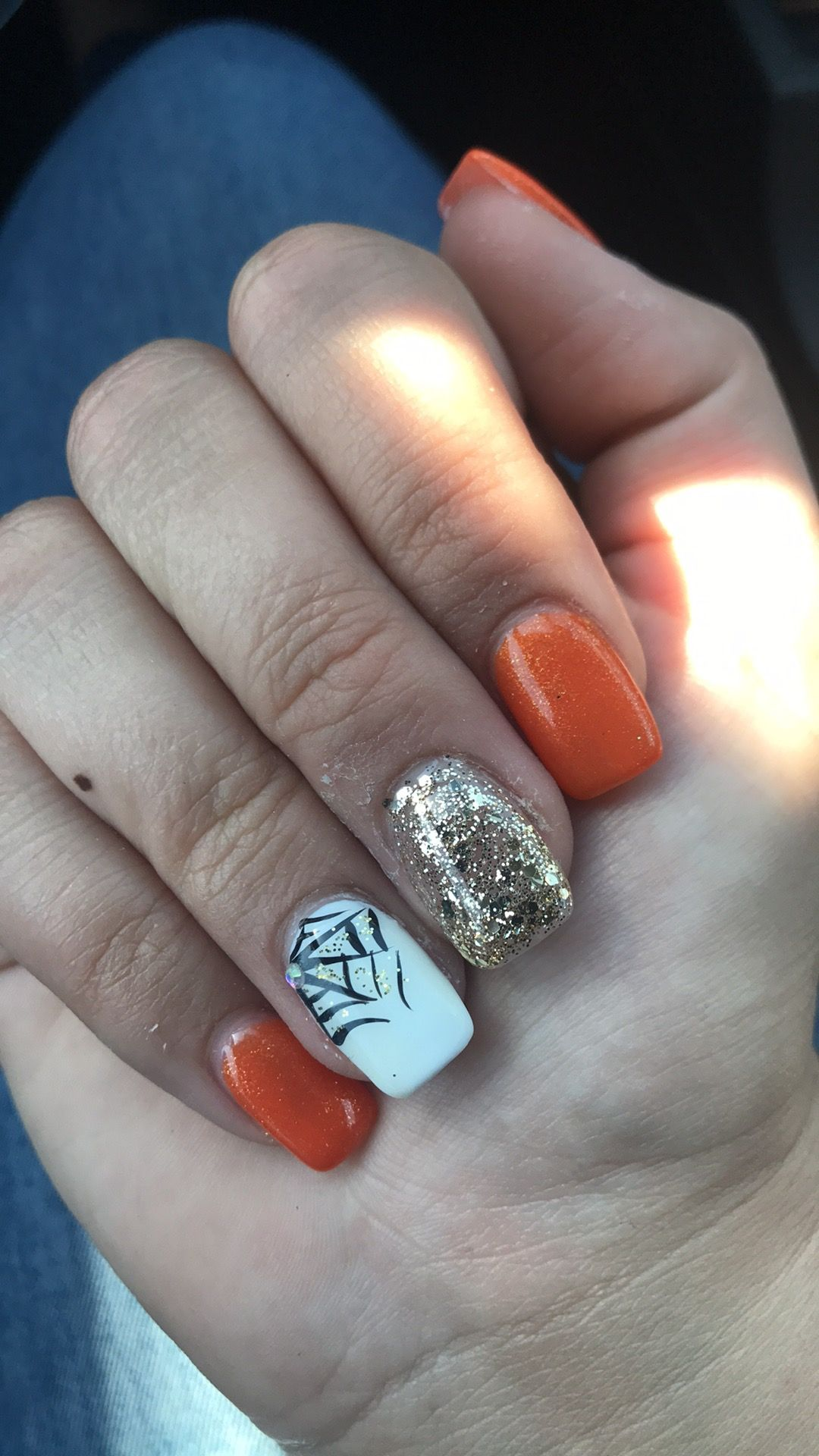 My October nails 😝 | October nails, Halloween nail designs ...