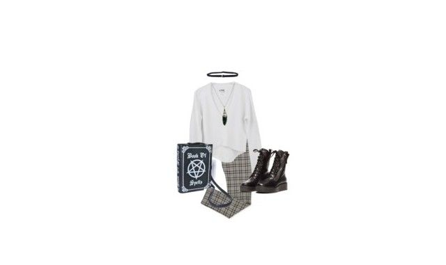 """""""im sick of this shiitt"""" by tatemustdie ❤ liked on Polyvore featuring Shay and Evil Twin"""