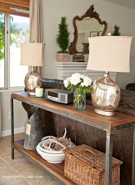 Lamps Sofa Table Maryland I Need This Behind Our Leather Hint You Ll Love Melissa S Blog Maybe Use Downstairs As A True And The Upstairs