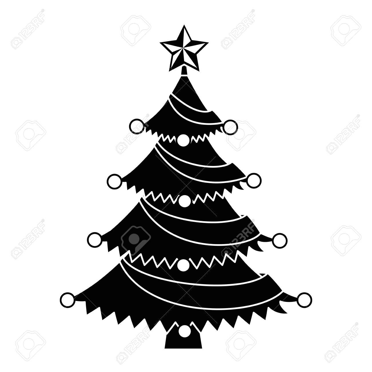 Merry Christmas Tree With Star Vector Illustration Design Aff Tree Christmas Merry Star Desig Vector Illustration Design Illustration Design Merry