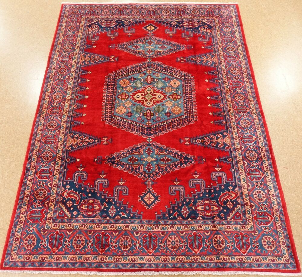 Hand Knotted Tribal Viss Oriental Rug Wool Red Blue Carpet 8 6 X 12 1 Persianvisstribalgeometric Oriental Rug Blue Carpet Wool Rug