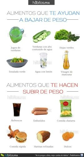 Alimentos - Dietas - Te para bajar de peso, Alimentos y..