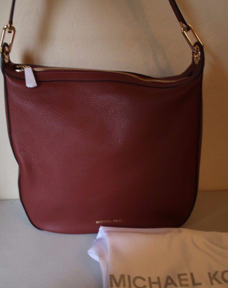 198f38bdd6579 Michael Michael Kors Raven Large Shoulder Bag Leather Brick Red Purse  Handbag  MichaelKors  ShoulderBag