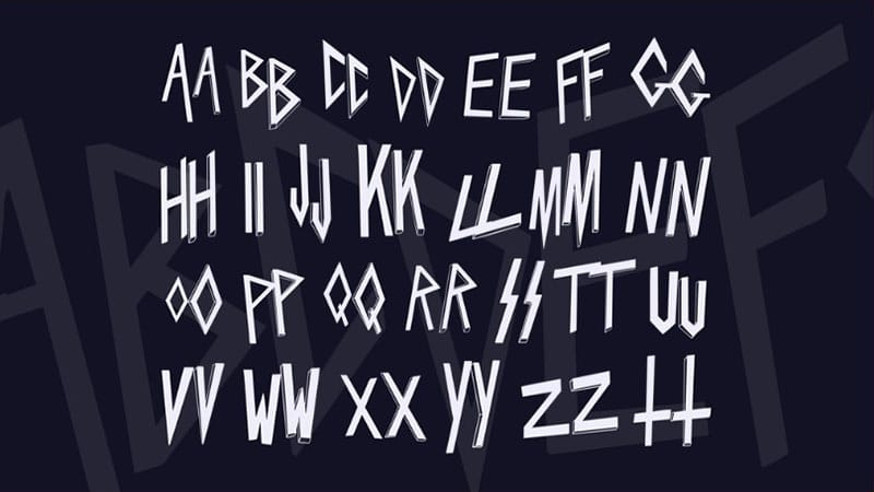 Pin On Slayer Logo Font Free Download