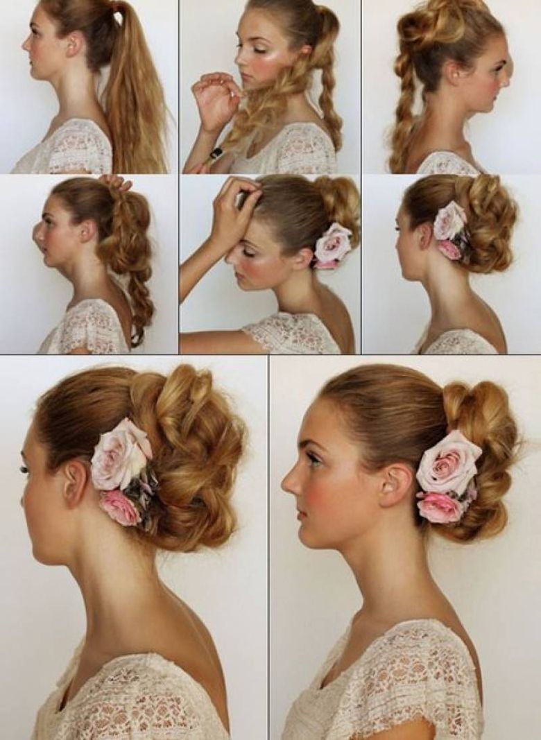 easy u quick hairstyles to look elegance in parties u step by