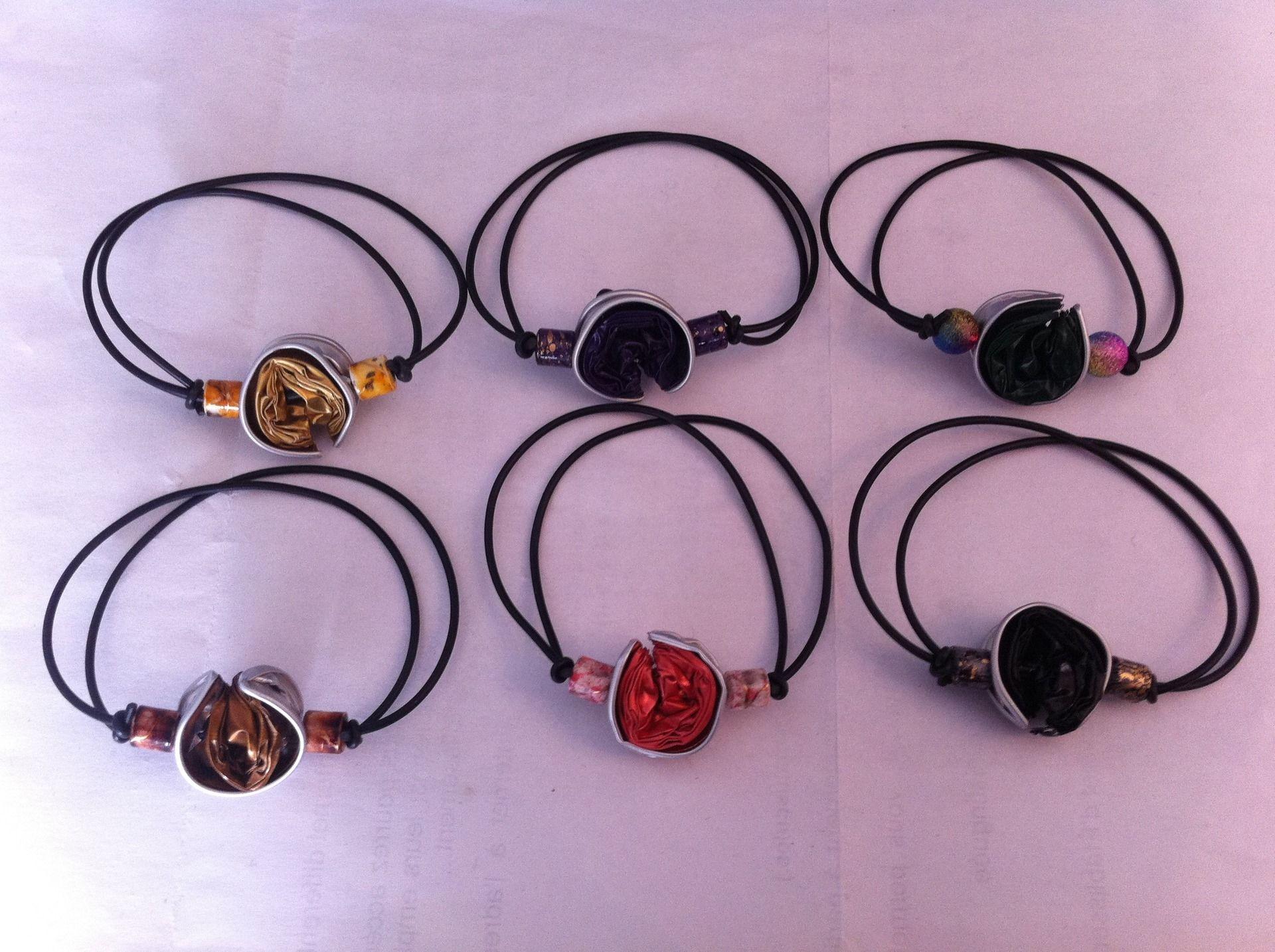 Bracelets réglables en capsules Nespresso recyclées