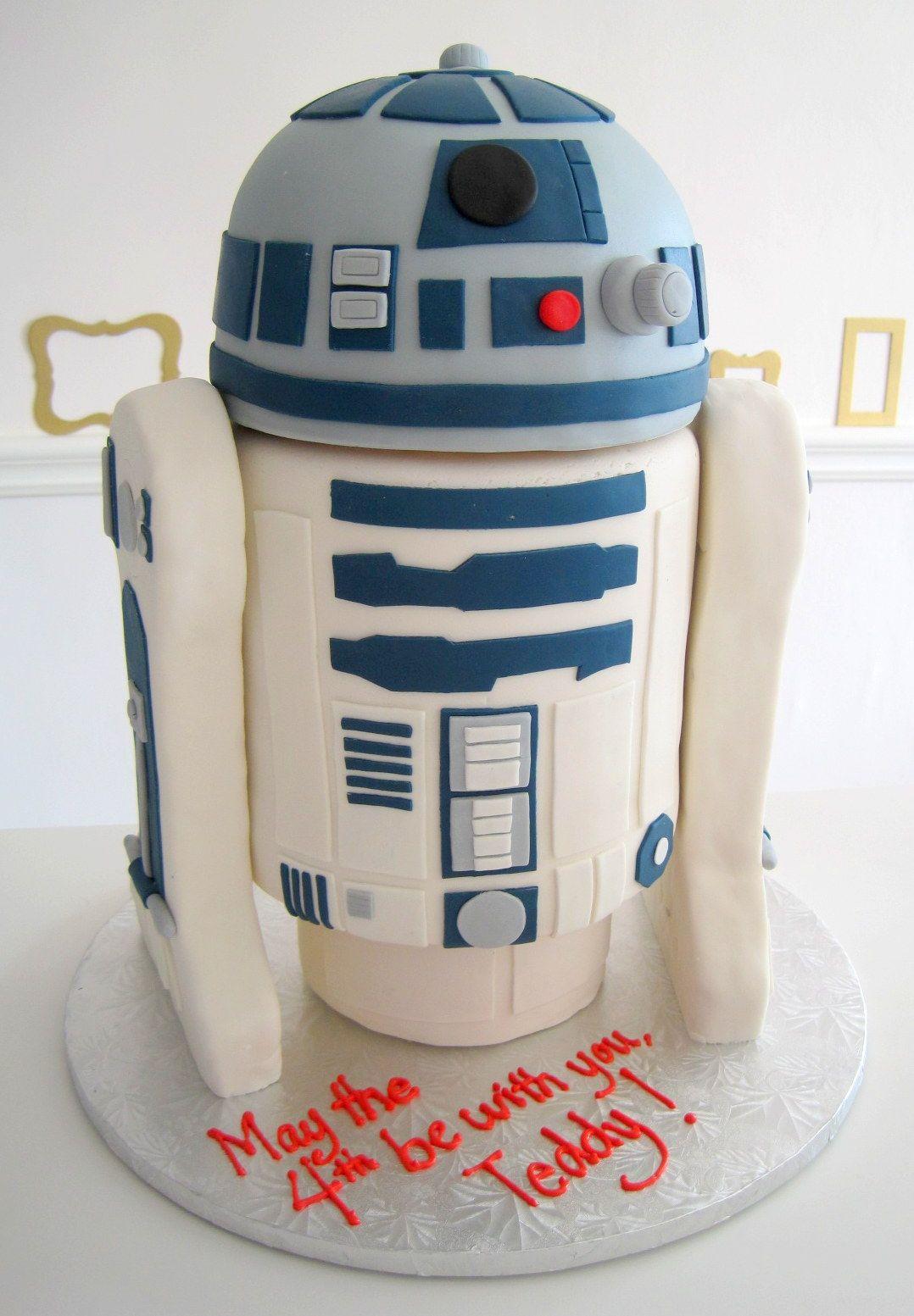 R2D2 Star Wars Cake   Baby Bea's Bakeshop