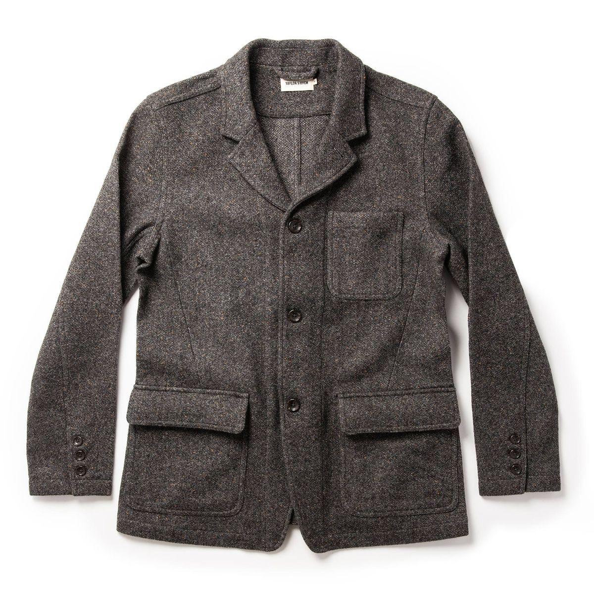 The Gibson Jacket In Charcoal Birdseye Wool Outerwear Taylor Stitch Jackets [ 1200 x 1200 Pixel ]