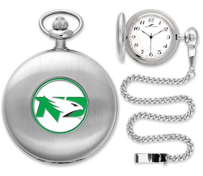 North Dakota Fighting Hawks - Pocket Watch - Silver