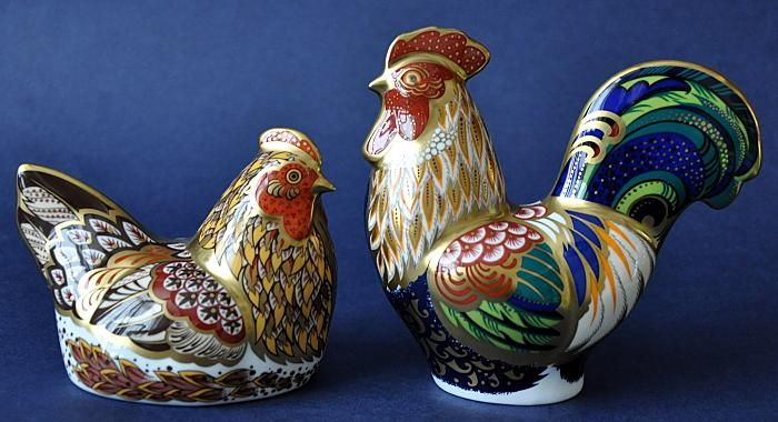 Royal Crown Derby Derbyshire Hen and Cockerel (pair)  Limited Edition of 350 pairs  http://www.bwthornton.co.uk/royal-crown-derby.php
