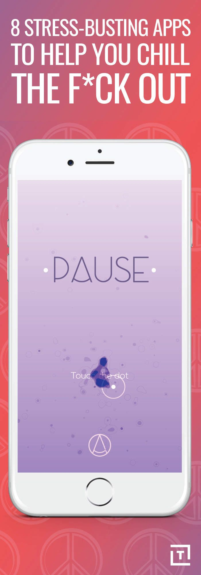 Fashion week Stress app for pause for woman