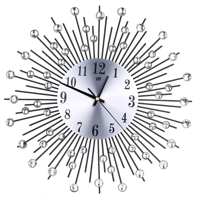 3d Wall Clock Diamonds Decorative Clock Wall Clock Living Room Decor