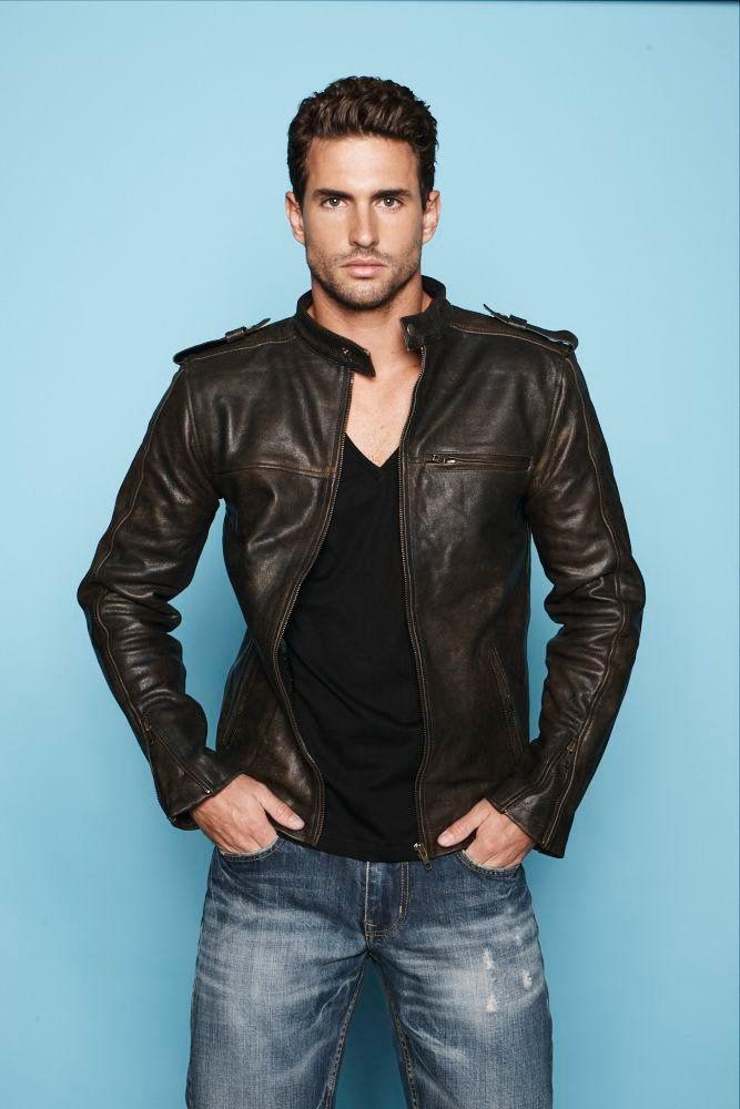 V Neck Leather