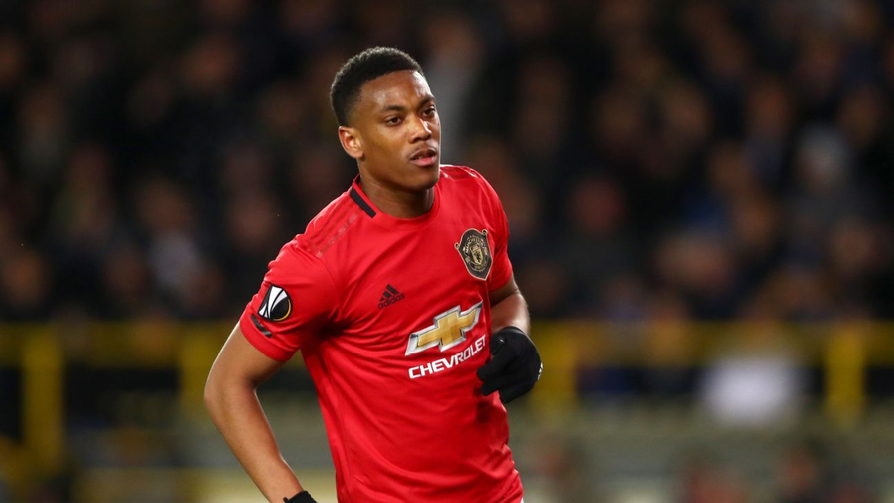 Martial 7 10 As Man United Draw Get Crucial Away Goal At Brugge In 2020 Man United Anthony Martial Manchester United