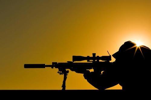 Sniper at sunset