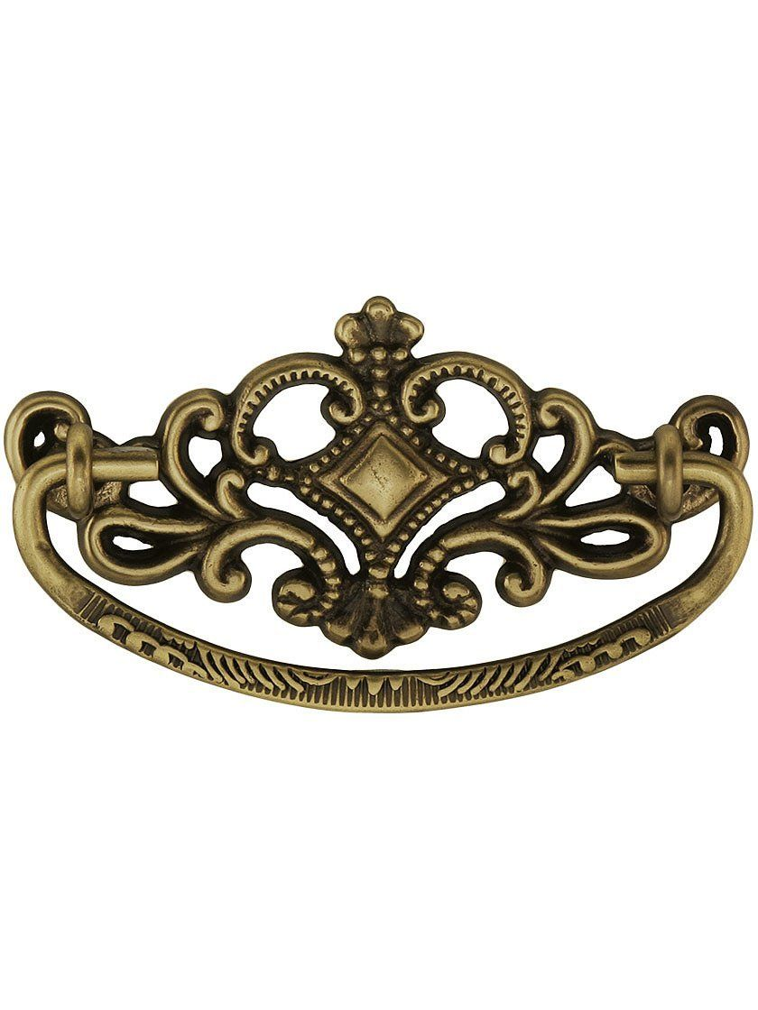 3 victorian style bail pull in antique brass antique drawer