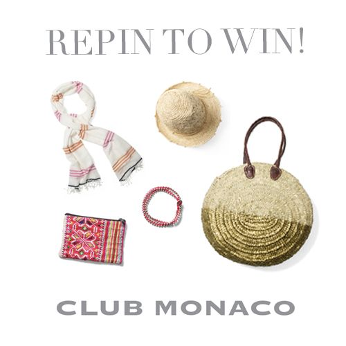 Congrats to our winner, Kara H.! Click the image to shop Club Monaco beach accessories & stay tuned for our next Repin to Win!