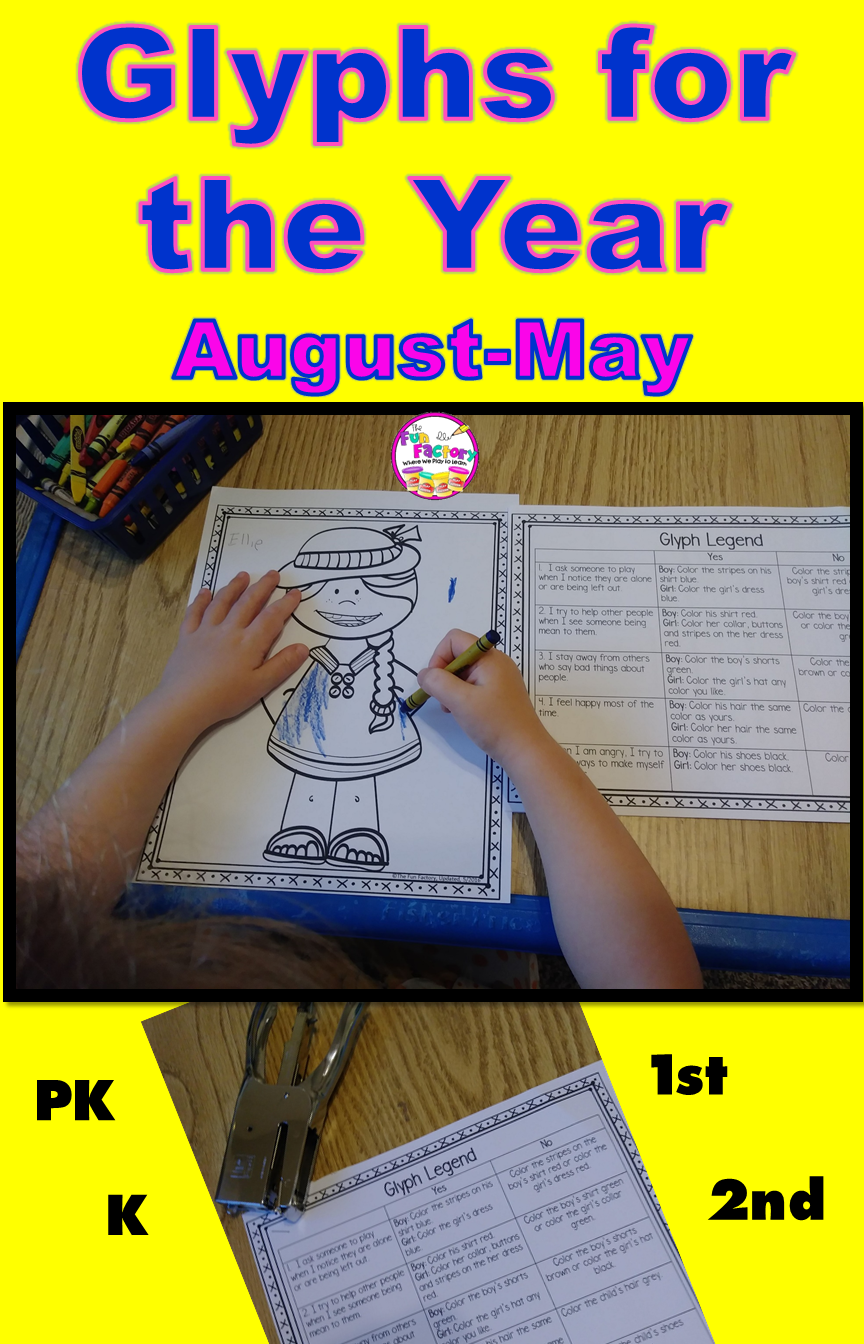 Glyph Activities BUNDLE   1st & 2nd Grade   Great for August
