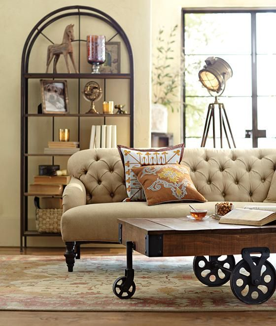 Awesome Industrial Maison Coffee Table   Coffee Tables   Living Room Furniture    Furniture | HomeDecorators. Design Inspirations