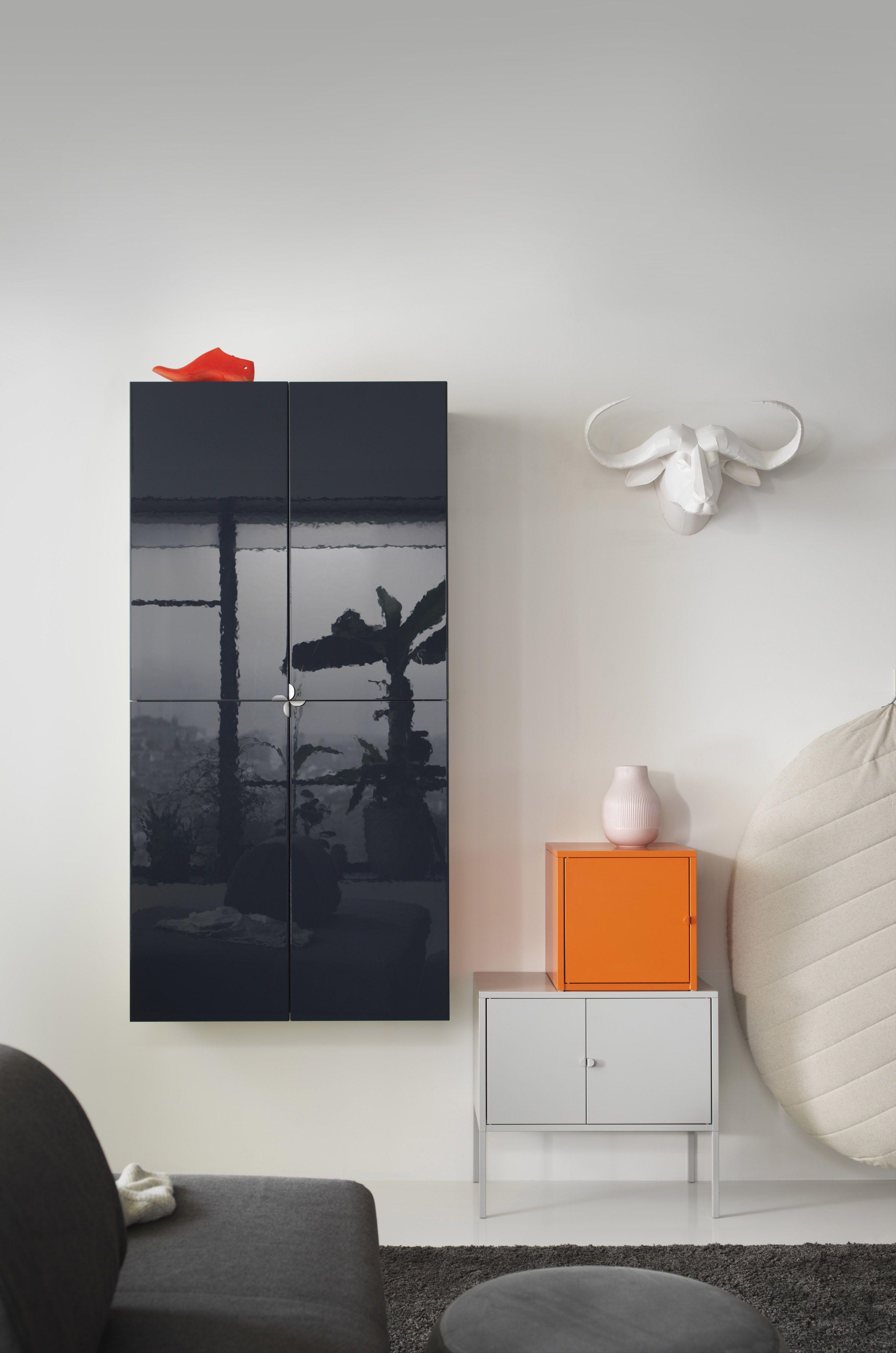 Ikea Metalen Slaapbank.Lixhult Kast Metaal Oranje 35x35 Cm Ikea Kast Ikea En Kastdeuren