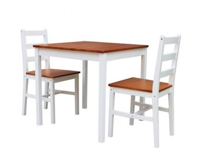 Details about Small Kitchen Table And 2 Chairs Home Dining Room Set