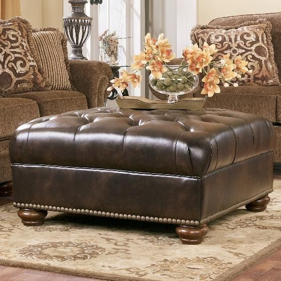 Admirable Presidio Antique Oversized Ottoman By Ashley Furniture Pabps2019 Chair Design Images Pabps2019Com