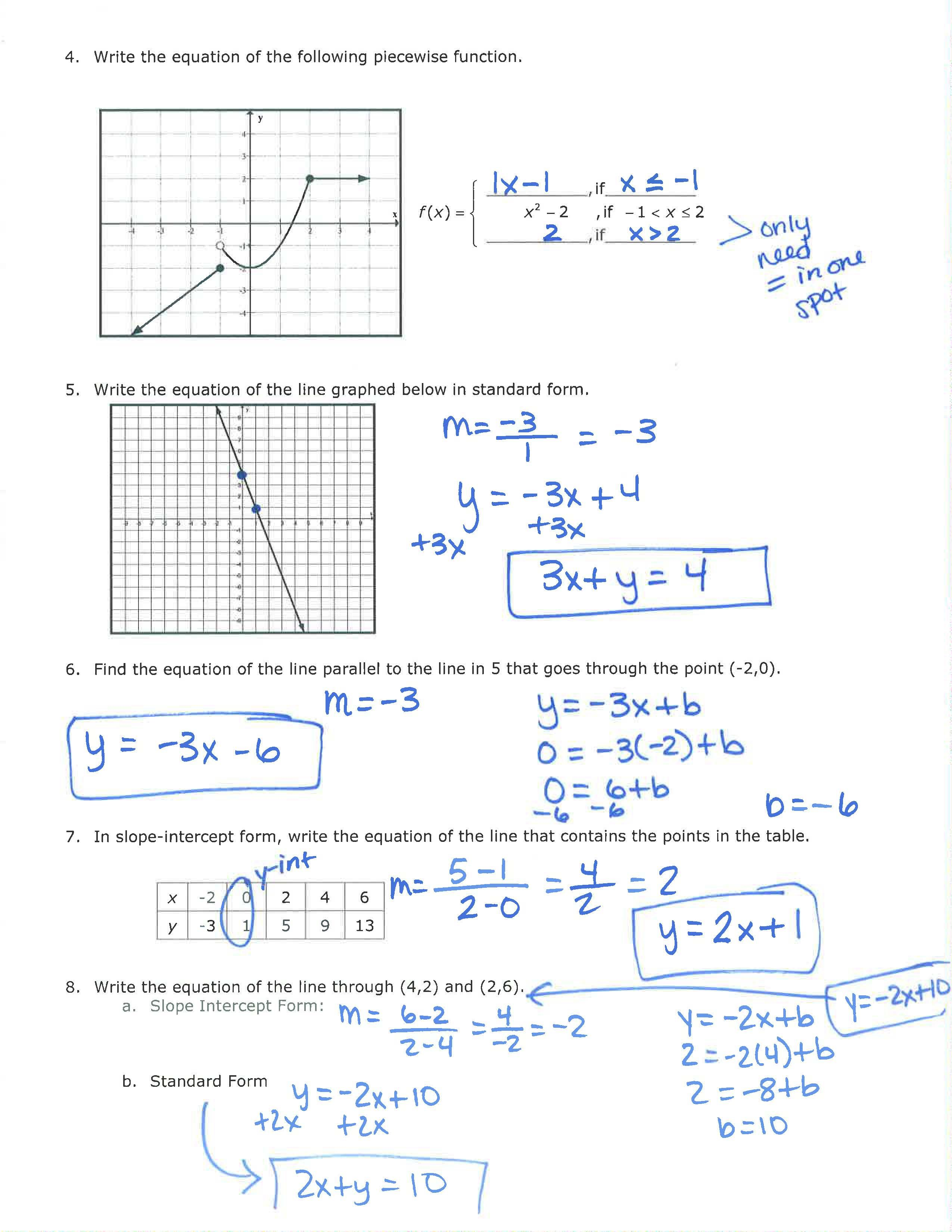 Unit 1 Page 2 Review Answers
