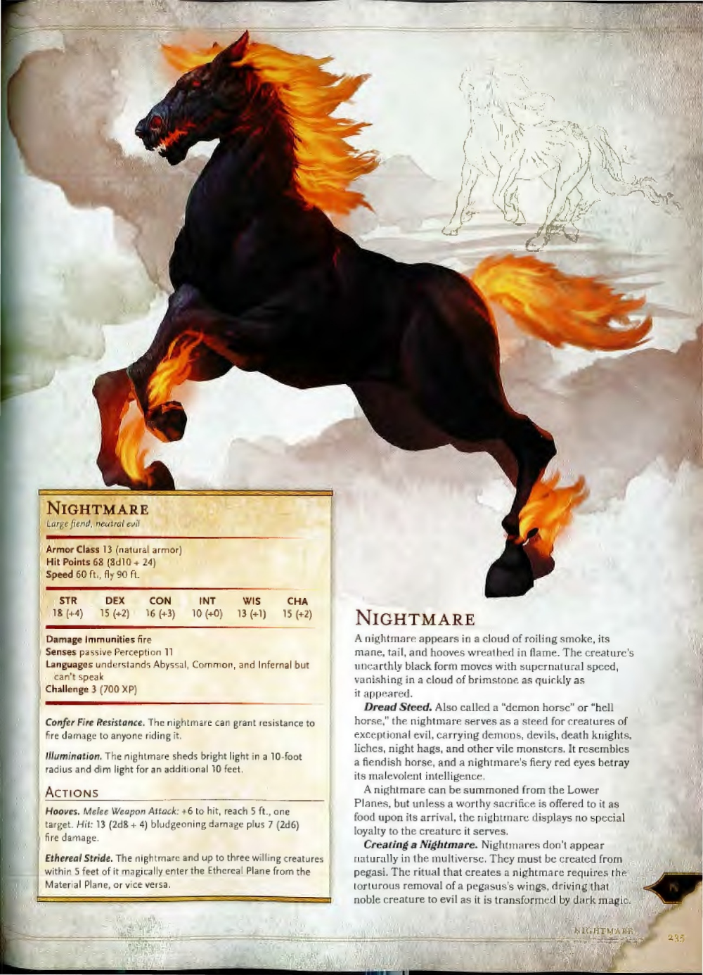 Dnd 5e Nightmare : nightmare, Monster, Manual, Dragons,, Dungeons, Dragons, Characters,, Fantasy, Creatures