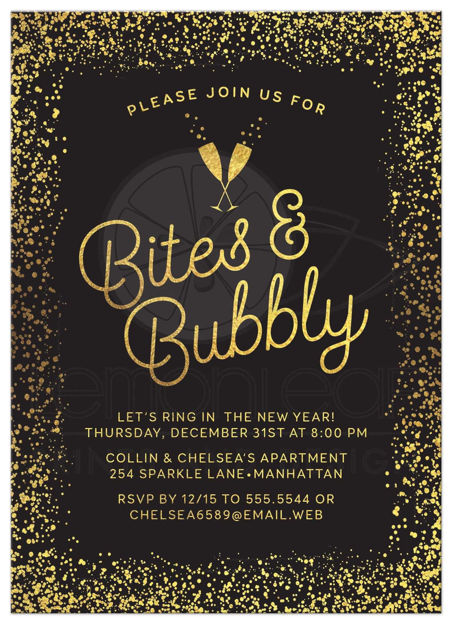 New Years Eve Party Invitations New Years Eve Invitations Party Invite Template New Years Eve Party