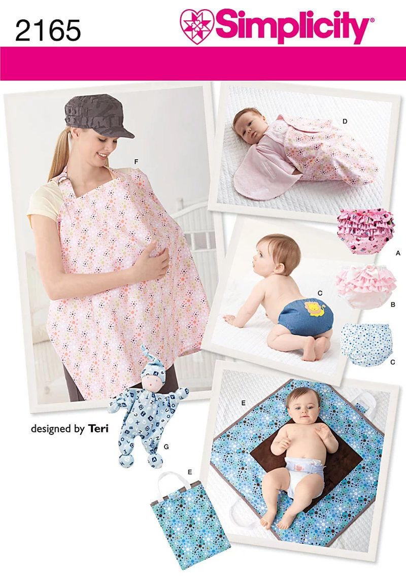 Simplicity 2165 Baby Accessories Sewing Pattern, Diaper Cover ...