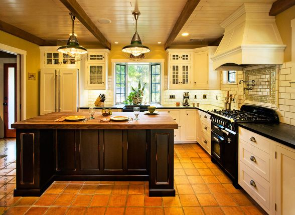 California Cottage Kitchen And Dining Room Recent Renovation Of 1920s Santa Barbara Swap