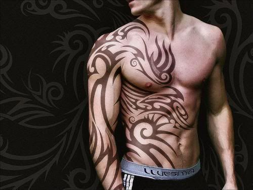 Half Body Celtic Tattoo For Men For My Man Pinterest Tattoos