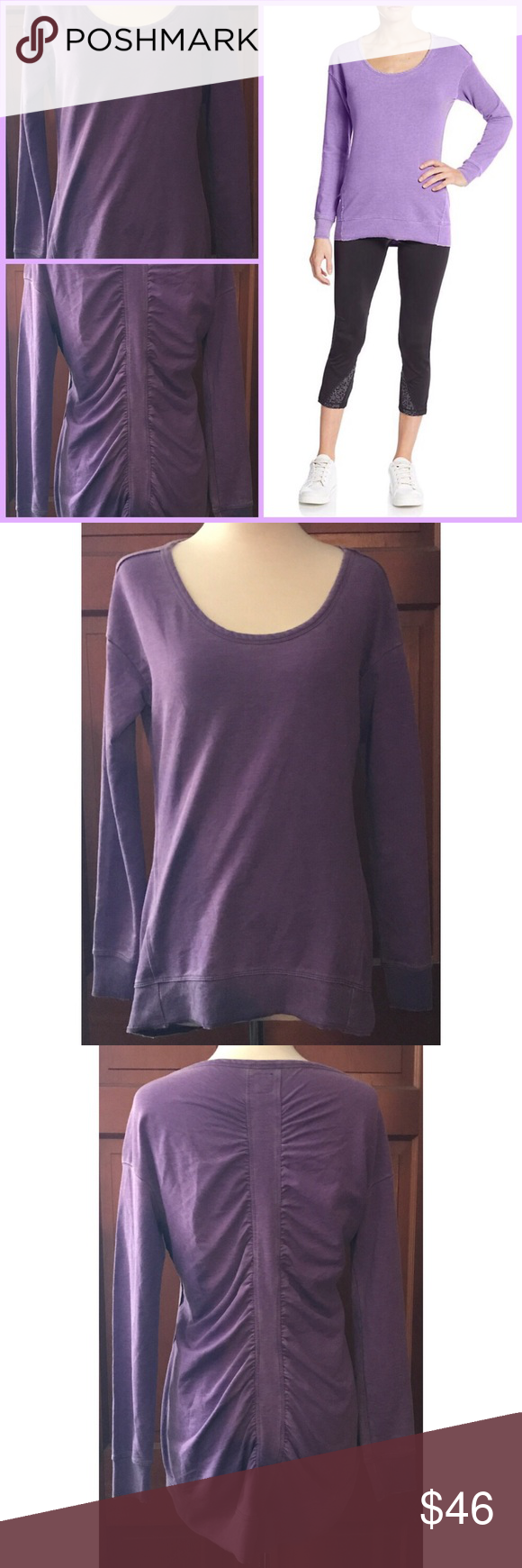 NWOT Saks BLUE Soft Cotton Jersey Top