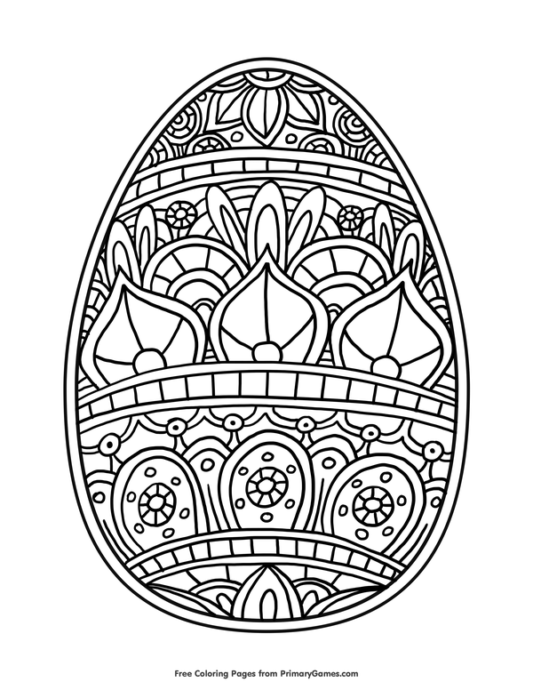 Easter Egg Coloring Page • FREE Printable eBook Easter