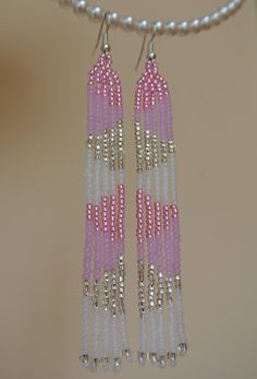 Earrings Tenderness Long Seed Bead By Innessaboutique