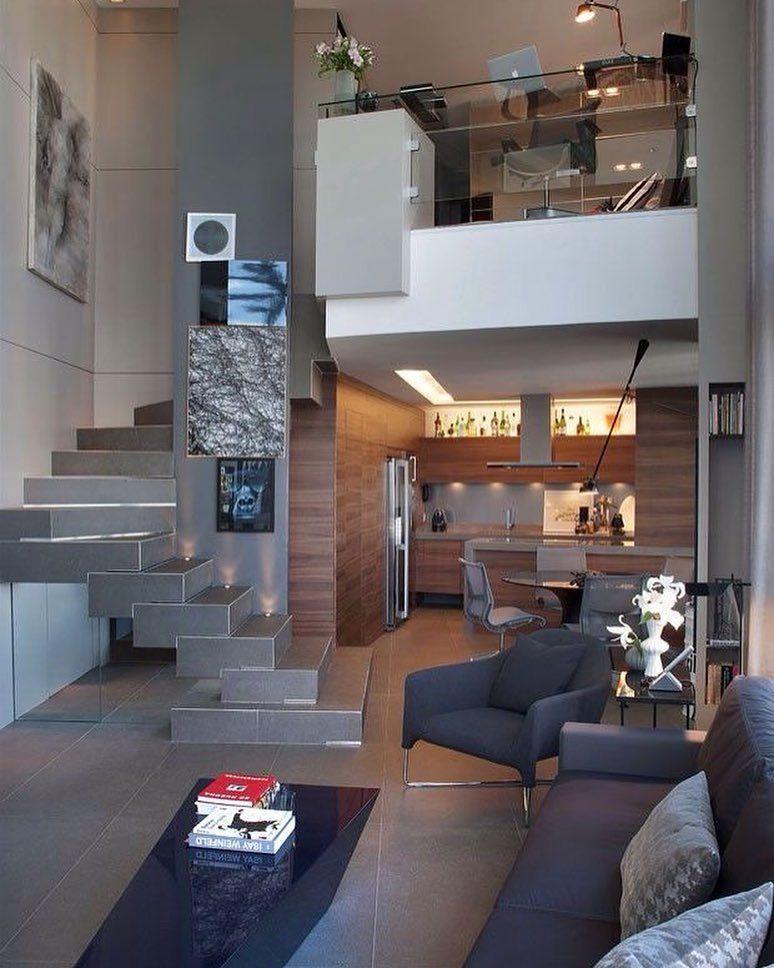 Foto de pinterest vivienda en dos alturas loft hogar for Departamentos pequenos lujosos