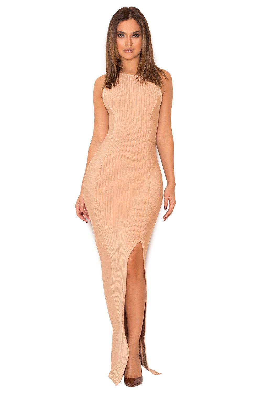 Clothing : Max Dresses : \'Laverle\' Nude Bandage Maxi Dress ...