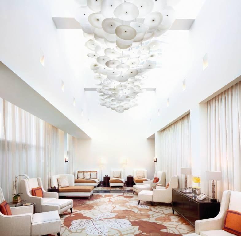 The relaxation room at Ritz Carlton Spa Toronto