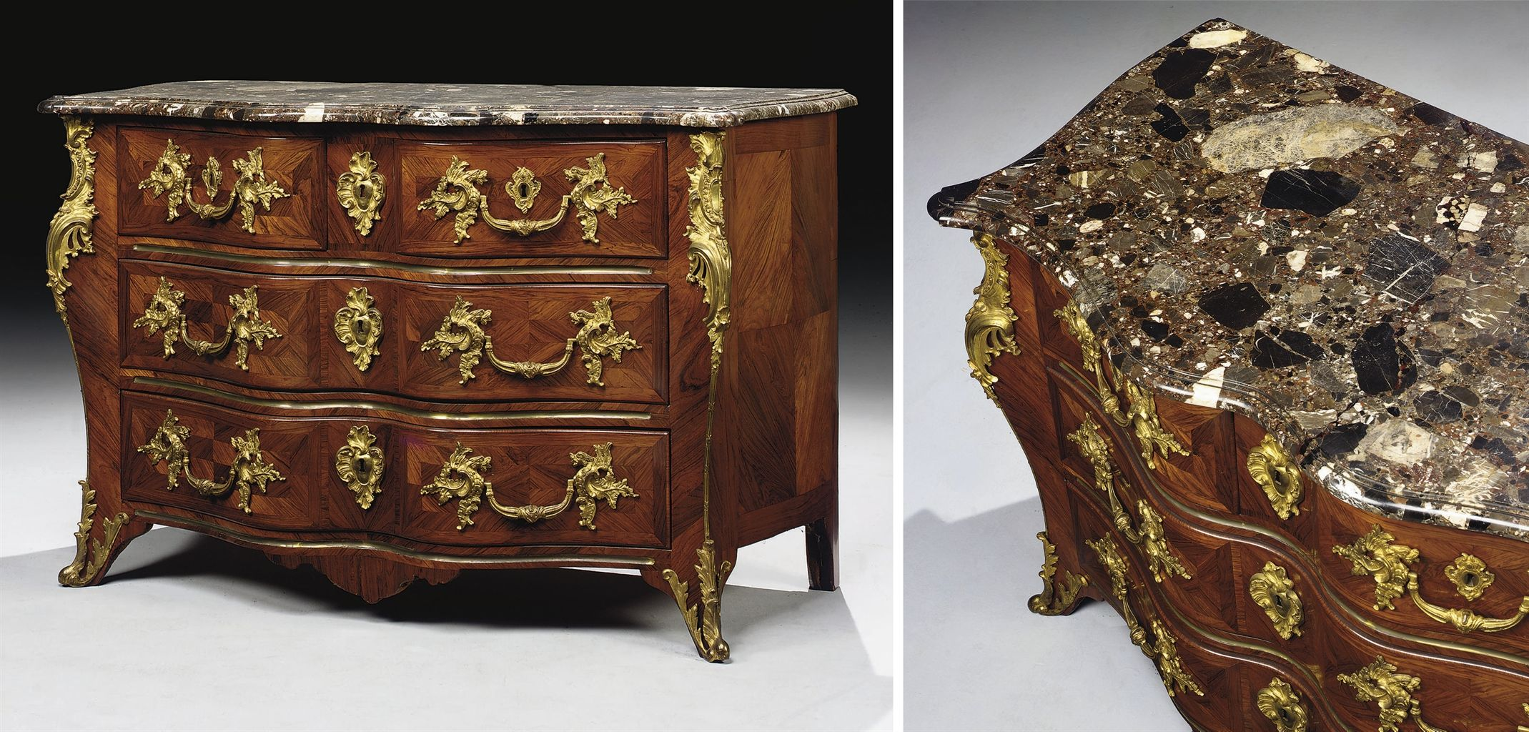 date unspecified COMMODE TOMBEAU D'EPOQUE LOUIS XV Price