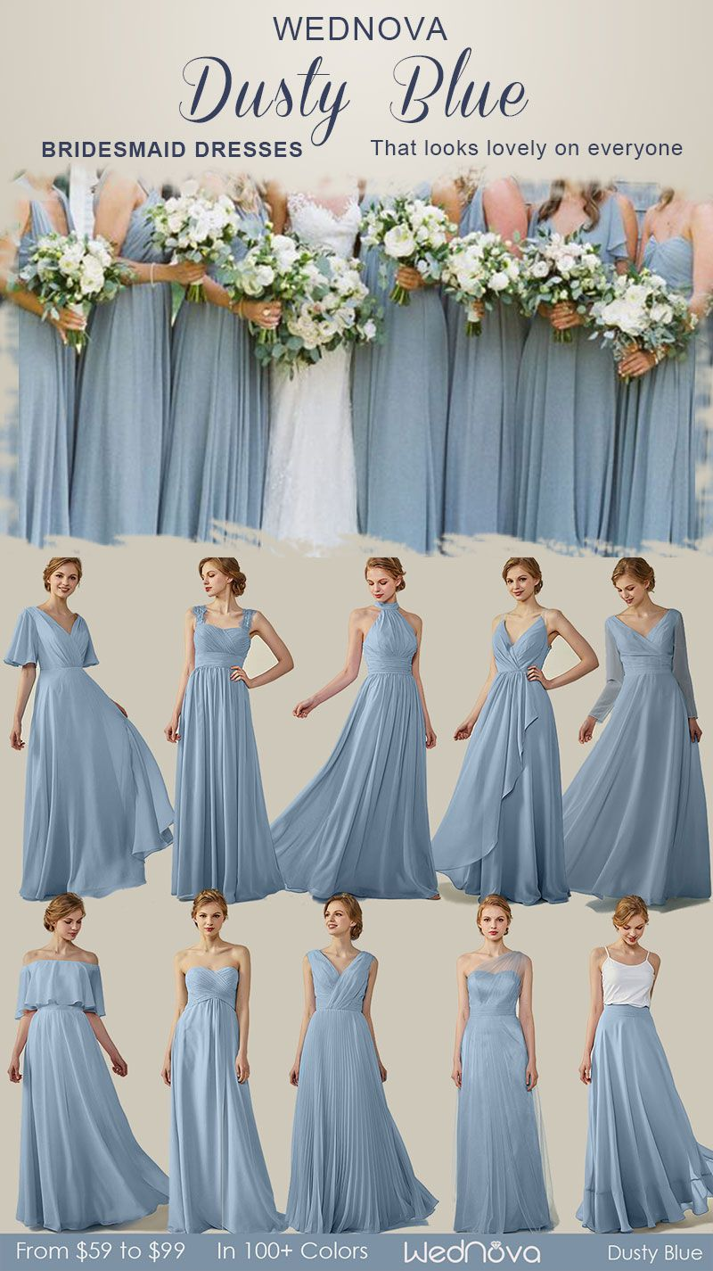 Gorgeous Bridesmaid Dresses With Long Sleeves Halter Dresses 10 Dusty B Bridesmaid Dresses Long Blue Dusty Blue Bridesmaid Dresses Bridesmaid Dresses Under 100