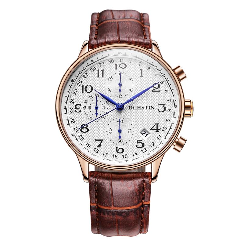 17.99$  Buy now - http://alizdj.shopchina.info/go.php?t=32793448149 - 2017 New Luxury Brand Men Watch Fashion Sports Watches Men's Quartz Chronograp Date Clock Man Leather Strap Business Wrist Watch 17.99$ #magazine