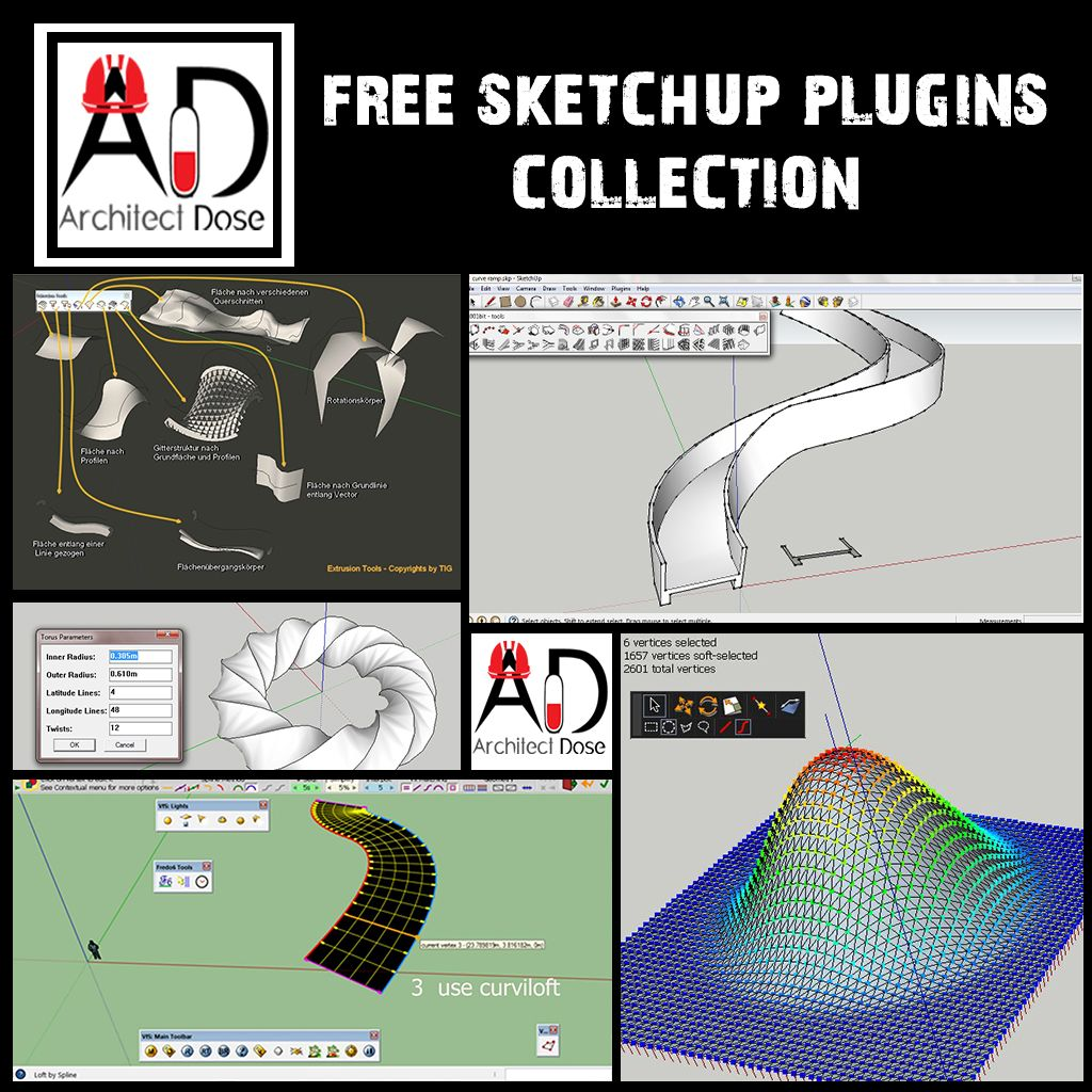 Free Interior Design Software For Pc: FREE SKETCHUP PLUGINS COLLECTION