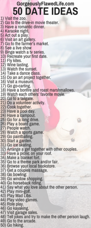 Date Ideas For The One You Love A Nice List All Around Good