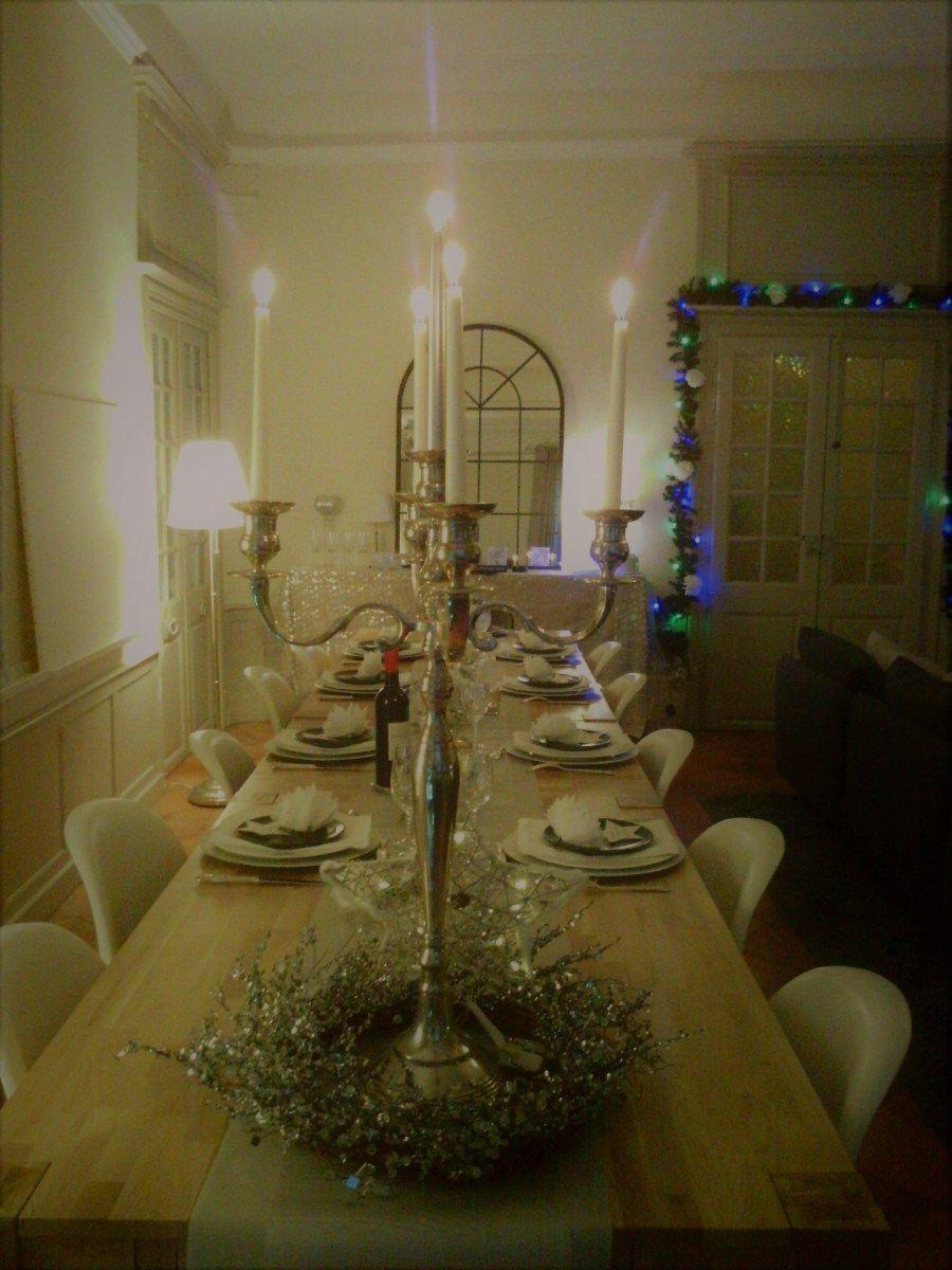 D coration de table pour no l ou nouvel an d coration de for Decoration table nouvel an