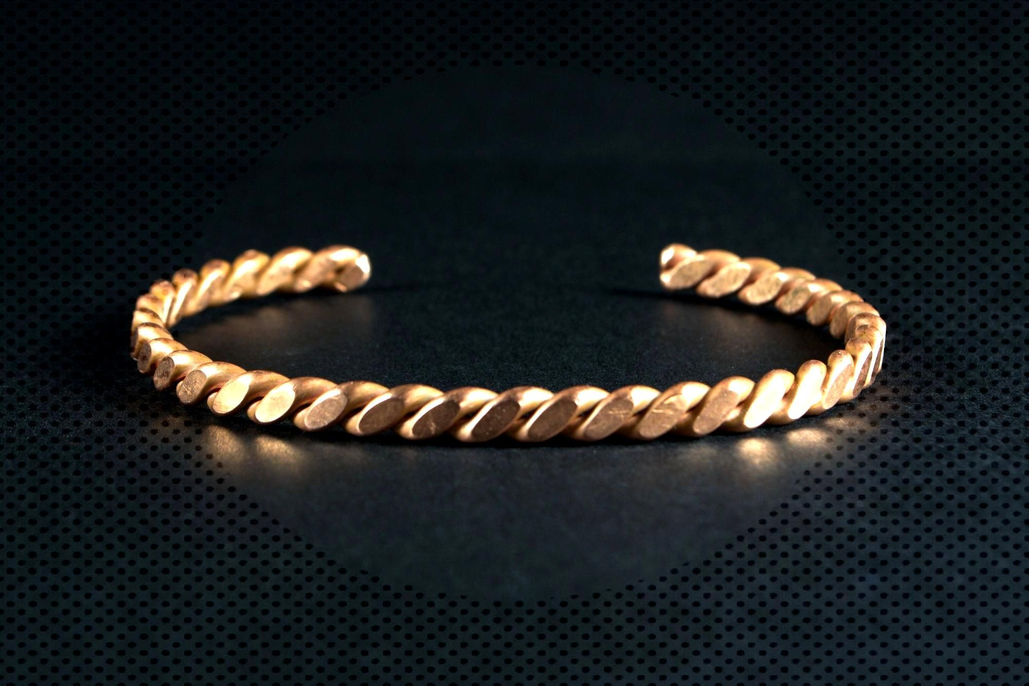 Copper Flat Twist Bracelet: Ancient Timeless Custom made to order Copper Cuff Bracelet by TL Goodwi