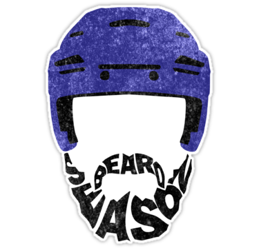 Hockey Beard Season Blue Helmet By Gamefacegear Helmet Stickers Hockey Hockey Helmet