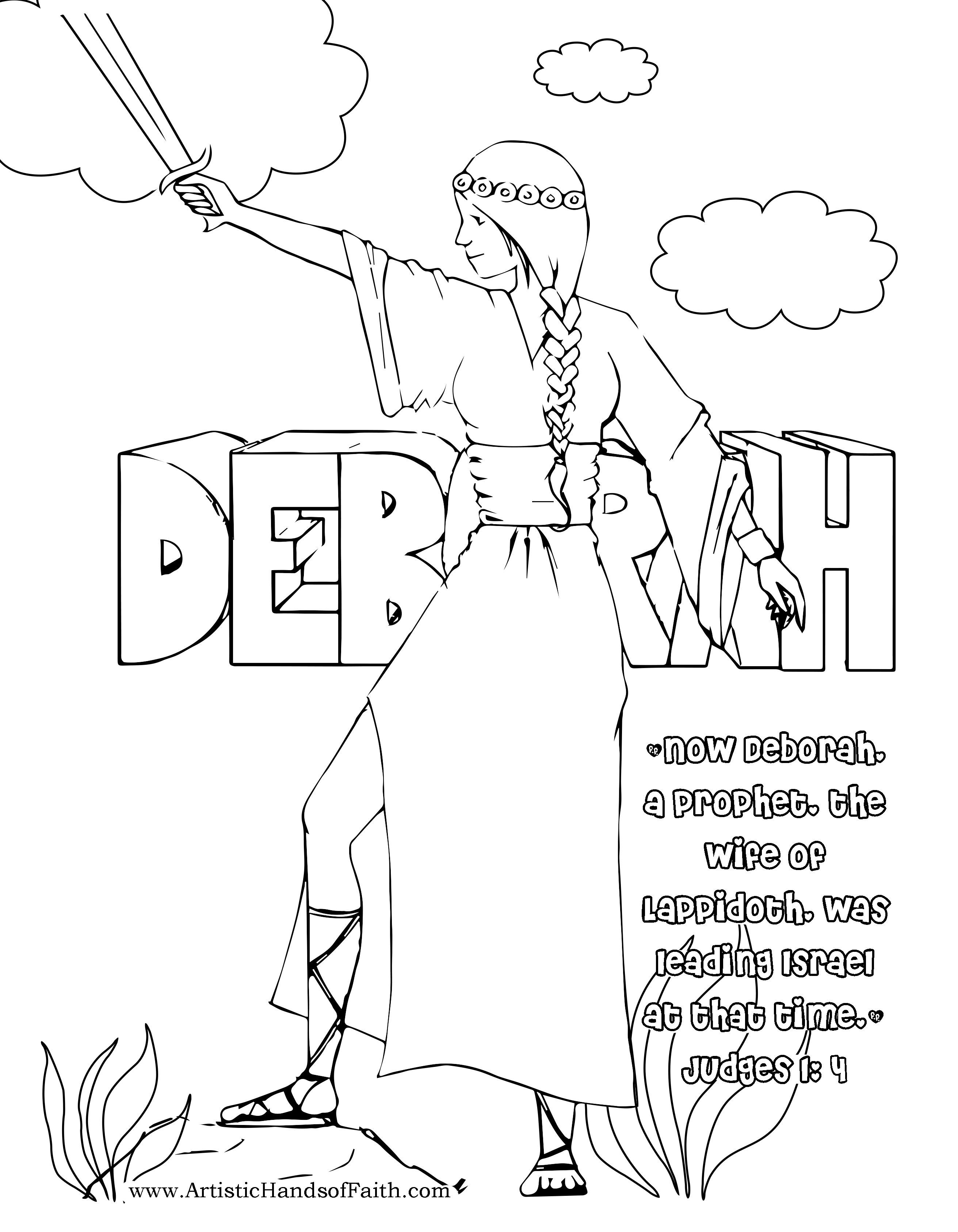Free Coloring Page Deborah Of The Bible Judge Of Israel Bible Coloring Pages Bible Coloring Bible For Kids