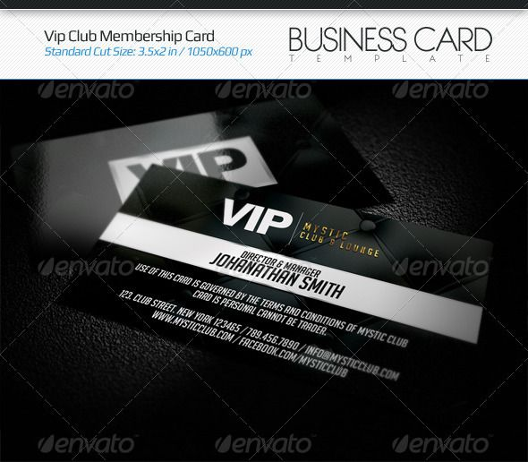 VIP Club Membership Card Corporate business, Business cards and - printable membership cards