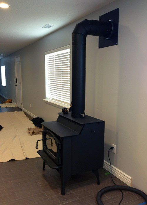 Install A Wood Burning Stove Basement Wood Stove