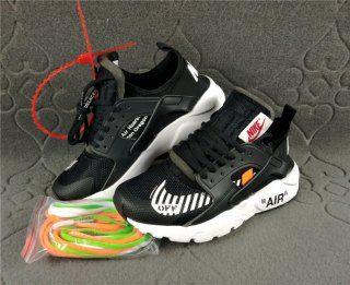 detailed look 5f934 b3ffd Discount Nike Air Huarache Ultra Run Off White Black White Womens Mens  Footwear Running Shoes